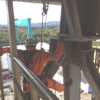 NDT inspection via rope access